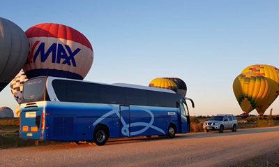 Rosabus in balloon