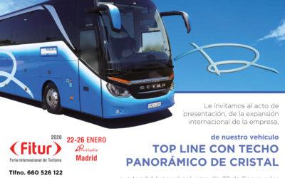 Rosabus en Fitur 2020 con nuestro TOP LINE CON TECHO PANORÁMICO