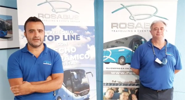 Mensajes de ánimo de los trabajadores de Rosabus