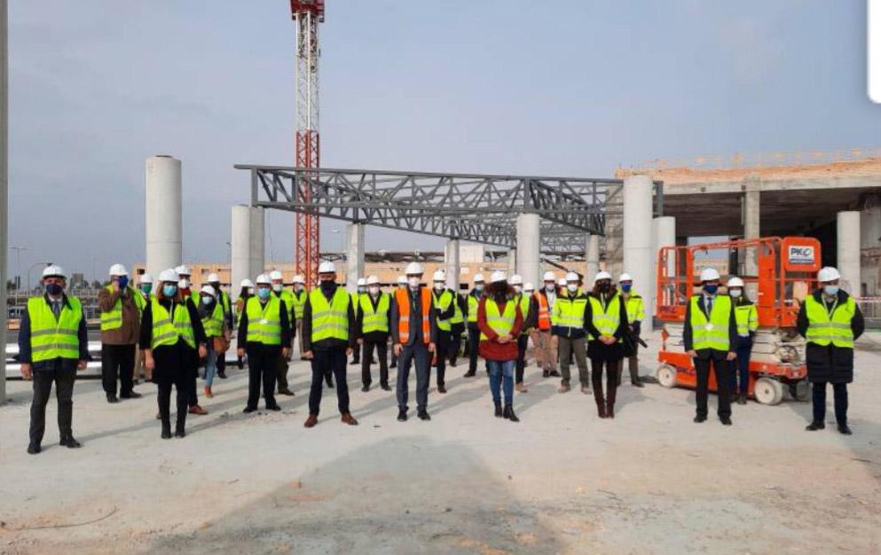 Rosabus visita las obras de ampliación del Aeropuerto de Sevilla